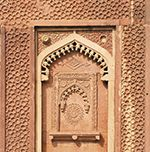 Indian ancient ornament at Itimad-ud-Daulah or Baby Taj in Agra